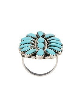 Jessie Western turquoise stone ring - Silver