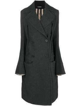Ann Demeulemeester double breasted coat - Grey