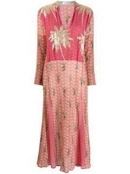 Ailanto embellished palm tree dress - Pink