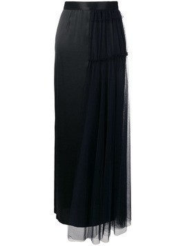 Act N°1 side tulle layer skirt - Black