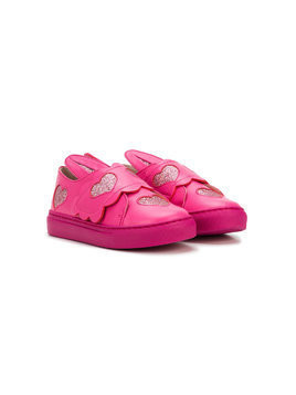 Minna Parikka Kids bunny ear sneakers - Pink