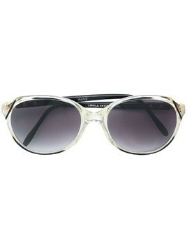 Yves Saint Laurent Pre-Owned transparent frame sunglasses - Black