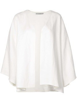 Dusan collarless jacket - White