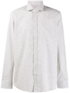 Hackett grid-print loose shirt - Brown