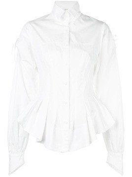 Aganovich ruffled hem shirt - White