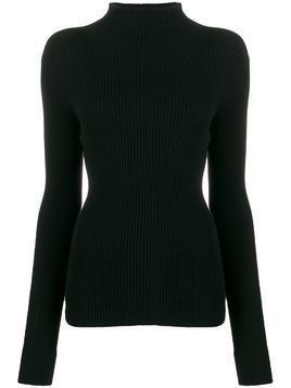 Mara Hoffman funnel neck cable knit sweater - Black