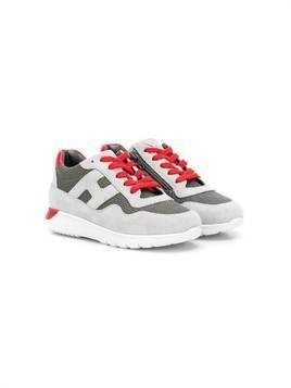 Hogan Kids side logo sneakers - Grey