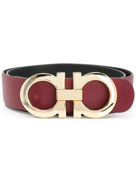 Salvatore Ferragamo Double Gancini bit belt - Pink & Purple