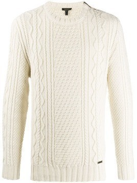 Belstaff cable knit jumper - White
