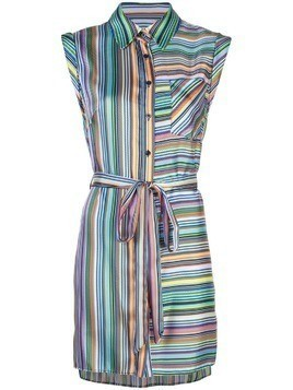 Milly striped day dress - Blue
