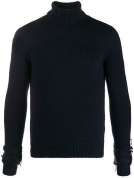 Haikure knitted roll neck jumper - Blue