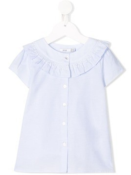 Knot Maguie pierrot collar blouse - Blue