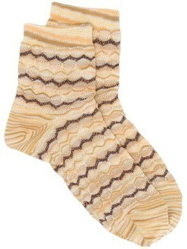 Missoni short knitted socks - Yellow