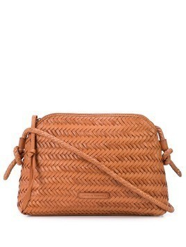 Loeffler Randall woven cross body bag - Orange