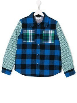 Duo multi-check shirt - Blue