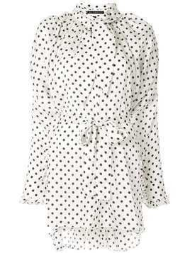 Blindness Dot print shirt - White