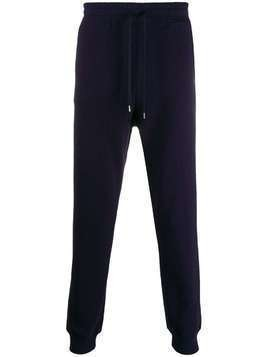 Vivienne Westwood Anglomania stitched logo track pants - Blue