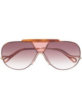 Chloé Eyewear aviator style sunglasses - Brown