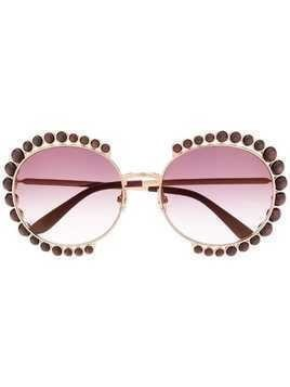 Elie Saab crystal embellished sunglasses - Purple