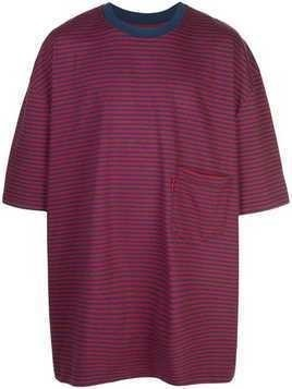 Martine Rose oversized striped T-shirt - Red