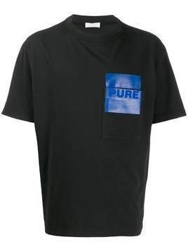 Haikure Larry contrast-pocket T-shirt - Black