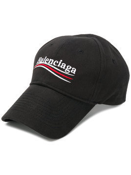 Balenciaga New Political logo baseball cap - Black