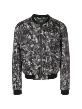 Versus tropical print bomber jacket - Black
