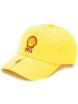 Botter embroidered detail cap - Yellow