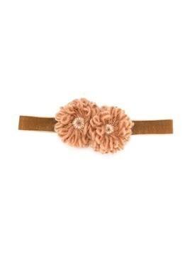 Caffe' D'orzo adjustable floral headband - Brown