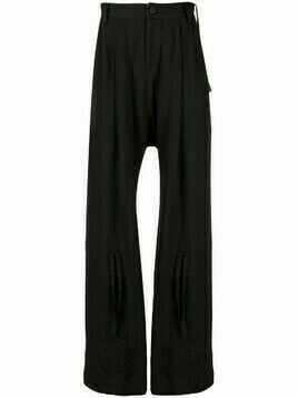 Ziggy Chen flared-leg trousers - Brown