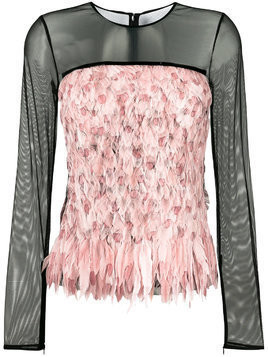 Tom Ford degrade smoke and feather top - Black