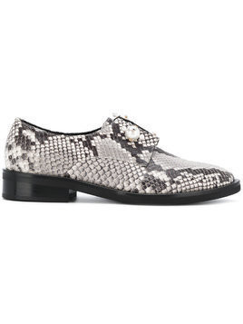 Coliac Sally snake-print derby shoes - Grey