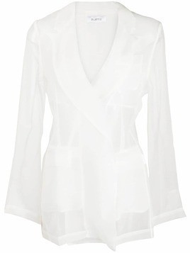 Ailanto sheer blazer jacket - White