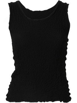 Issey Miyake Cauliflower cauliflower sleeveless top - Black