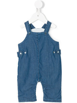 Knot chambray dungarees - Blue