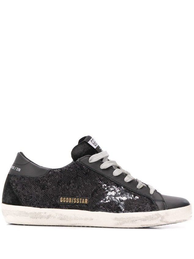 Golden Goose Superstar sequin sneakers - Black