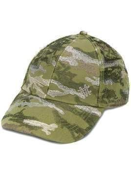 Mr & Mrs Italy embroidered camouflage cap - Green