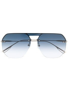 Bolon oversized geometric frame sunglasses - Silver