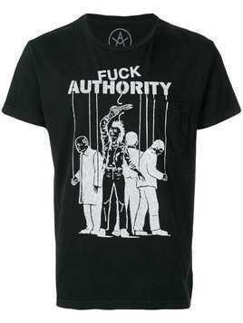 Local Authority Fuck Authority T-shirt - Black