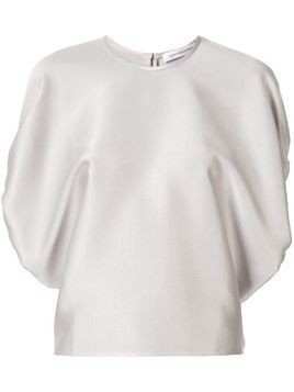 Christopher Esber ruched oversized top - Silver