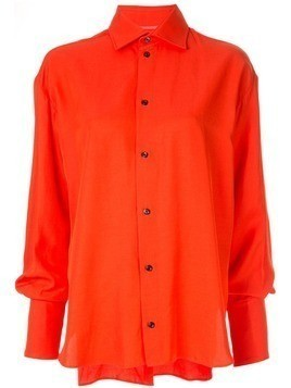 Maticevski oversized classic shirt - Red