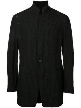 Forme D'expression broderie standing collar jacket - Black