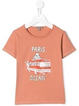 Emile Et Ida bus print T-shirt - Orange