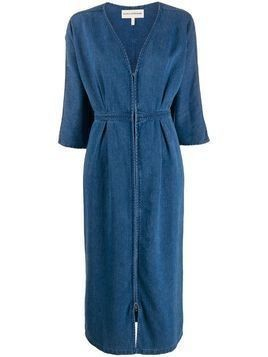 Mara Hoffman deep V-neck denim dress - Blue