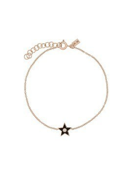 Ef Collection 14kt gold diamond star bracelet - Bronze