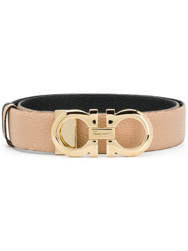 Salvatore Ferragamo double Gancio buckle belt - Nude & Neutrals