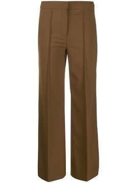 Dorothee Schumacher mid-rise flared trousers - Brown