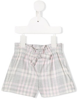 Il Gufo check print shorts - Grey
