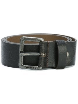 Diesel silver-tone buckle belt - Brown
