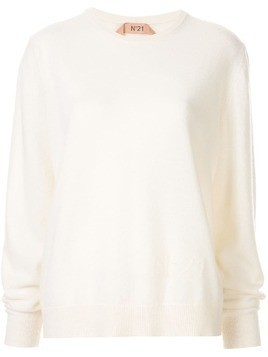 Nº21 regular-fit logo pullover - White